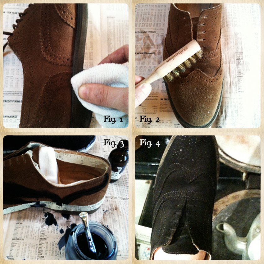 How To Dye A White Leather Shoe To Brown